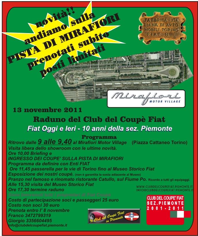 13 novembre 2011 Raduno del Club del Coupè Fiat Fiat Oggi e Ieri - 10 anni della sez. Piemonte